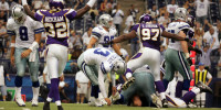 Vanderjagt's Texas Stadium Initiation Turns To Double-Misery For Cowboys In 10-10 Tie With Vikings